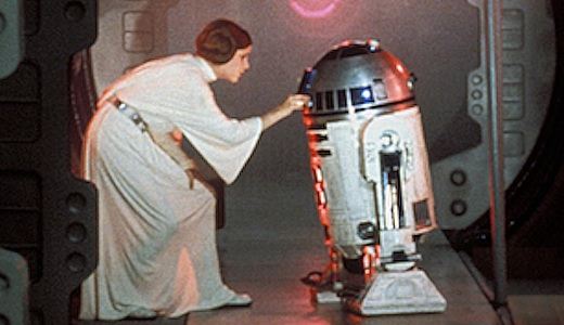 Starwars: Princess Leia and R2D2